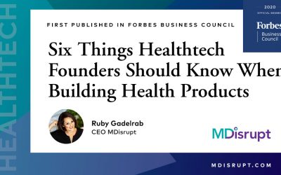 Six Things Healthtech Founders Should Know When Building Health Products